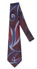 DOCTOR WHO Style David Tennant SWIRLY TIE by Magnoli Clothiers 100% Silk