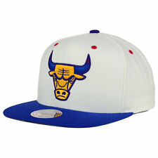 Mitchell and Ness NBA Chicago Bulls Sweater Snapback Cap/Hat White/Blue