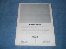 """1965 Jawa Motorcycles Vintage Ad """"Sold Out?"""""""