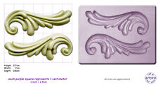SCROLL SCROLLS x 2 Craft Sugarcraft Wax Resin Sculpey Silicone Mould Mold