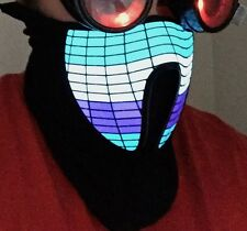 Light up Glow LED EL Panel Mask Dance Club, Rave, Cosplay, Costume, Festival.