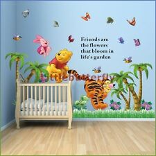 Winnie L'OURSON papillon / arbre wall stickers nursery Bébé Autocollant Vinyle pour enfants-S3