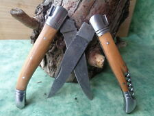 2 Couteau Damas Lame 128 couches Façon Laguiole Abeille - Lot 2 Damascus Knives
