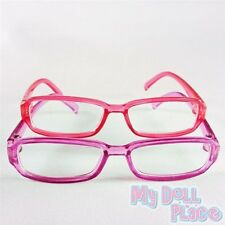 """2pc Glasses Pink Purple Plastic Accessories fit 18"""" American Girl Doll Clothes"""