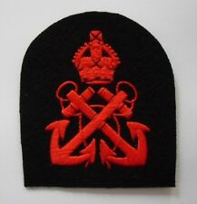 ROYAL NAVY PETTY OFFICER'S ARM BADGE K/C.