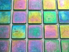 75 Tile Sheet Green Iridescent 20mm Mosaic Tiles