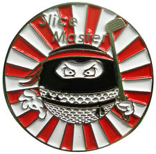Ninja Golf Ball - Slice Master -  Golf Ball Marker - Package of 2 - Great detail