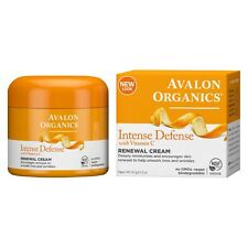 Avalon Organics Intense Defense with Vitamin C Renewal Cream, 2 Ounce, New