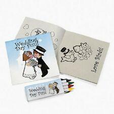 Lot of 12 Child Wedding Activity Sets Crayon Favors