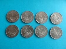 50 Cents 1980 Singapore Lion Fish Coin - 8 Pieces
