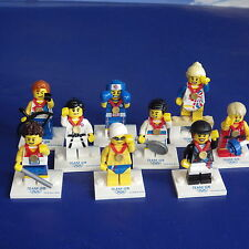 Lego Olympic Team GB minifigures, Boxer, Equestrian, Relay Runner, complete set
