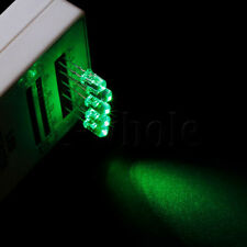 50pcs Water Clear Round Top 20mA 5mm LED Green Light 2pin DIY Lamp TW