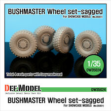DEF. MODEL, Australia IMV Bushmaster Sagged Wheel set for Showcase, DW35024,1:35