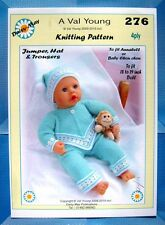 DOLLS KNITTING PATTERN  for  Anabell Doll 18 /19ins No 276 - Daisy-May
