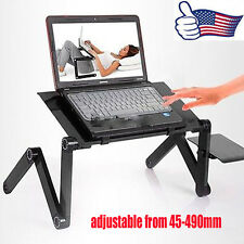 Adjustable foldable laptop Notebook desk Table W/ Fans Stand Portable Bed Tray Y