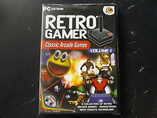 RETRO GAMER VOLUME 1 PC NEW SEALED ( 5 arcade re-makes of classic arcade games )
