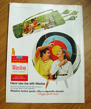 1968 Winston Cigarette Ad Bow Arrow Archery Theme