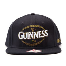 OFFICIAL GUINNESS DRINK HEARP LOGO BLACK SNAPBACK CAP HAT (BRAND NEW)