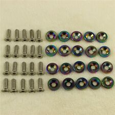 NEO CHROME 20PCS CNC BILLET ALUMINUM FENDER WASHER BOLT ENGINE BAY DRESS UP KIT