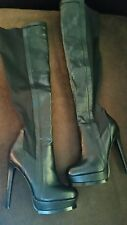 Steve Madden Makeover over the knee Thigh High Fashion High Heel Boots New Black