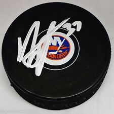 Brian Strait New York NY Islanders Signed Autographed Signed Logo  Puck LOM COA