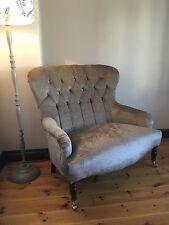 Bampton love seat small button back sofa In  Laura Ashley Villandry Truffle