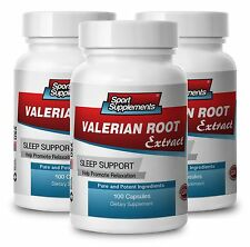 VALERIAN ROOT Extract. Sleep Support. Promotes Relaxation (3 Bottles)