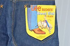 Vintage LEE RIDERS BOOTCUT FLARE Lot 200-0341 27 X 32 Deadstock NEW USA