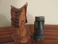 Spirit Hut Mug Castaway Ceramics 2008 Squid Tiki Mug and Marcel Mug Thor Hawaii