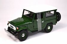 TOYOTA FJ40 LAND CRUISER 1974 GREEN MOTORMAX 79323 1:24 NEW DIECAST MODEL