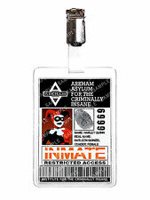 Batman Arkham Asylum Harley Quinn ID Badge Inmate Cosplay Costume Christmas