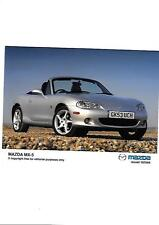 "MAZDA MX5 ORIGINAL PRESS PHOTO "" BROCHURE  RELATED"" ISSUED OCTOBER 2004"