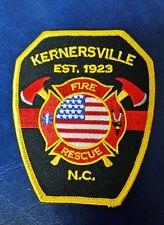 KERNERSVILLE, NORTH CAROLINA FIRE & RESCUE PATCH NC