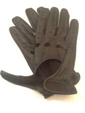VTG Black Leather Unlined Driving/Cycling/Winter Mens Gloves Size S/ M