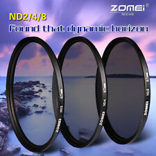 Zomei 72MM Neutral Density Filter Lens Kit ND ND2+ND4+ND8 for Canon Nikon camera