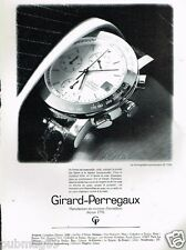 Publicité advertising 1989 La Montre Girard Perregaux chronographe GP 7000