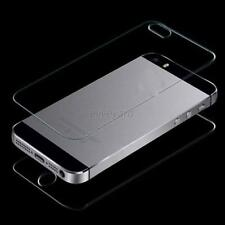 For iPhone 4 4S Screen Protector Front + Back Premium Tempered Glass Film  E49
