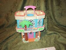 Fisher Price Sweet Street Doll House Building town Beach cottage palm tree pool