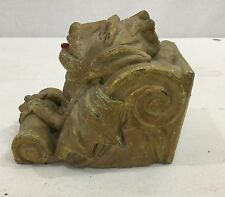 Great Victorian American Handmade Folk Art Cement Doorstop Of A Gargoyle