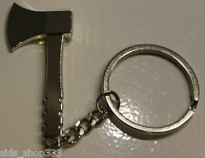 AXE AX  Key chain cosplay Silver chrome color great cool gift stocking stuffer