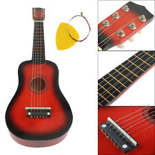 21 Inch 6 Strings Red Beginner Practice Acoustic Guitar Musical Instrument Child