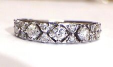14K White Gold .74 CTW Fancy Diamond Ring Band Size 6.75