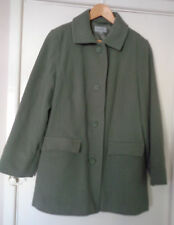 Marks and spencer M&S Khaki green lined Jacket coat UK Size 16