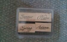 Vintage 2005 Stampin Up Season by Season Set of 4 Stamps in Plasric Case