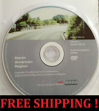 2016 AUDI MMI 2G NAVIGATION DVD NORTH AMERICA USA + CANADA GPS ROAD MAP UPDATE