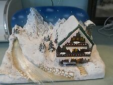 KONSTSMIDE FIBRE OPTIC CHRISTMAS VILLAGE SNOW SCENE CHALET - NEW & BOXED