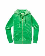 NWT Juicy Couture Relaxed Hoodie in Velour, Essex Green, L, $108