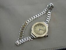 Art Deco 14k White Gold Filled Lady Elgin Ladies Watch Sapphire Crown