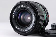 【AB- Exc】 Canon NEW FD NFD 35mm f/2 Wide Angle MF Lens w/Caps From JAPAN #2023