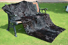 "Twin Blanket Real Goat Skin Cowhide calf lamb Sheep Fur Throw rug spread 75""X43"""